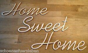 home sweet home schriftzug 90 x 10 cm holz natur basteln gestalten deko shabby ebay. Black Bedroom Furniture Sets. Home Design Ideas