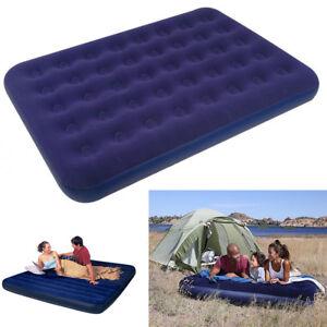 Materassini Gonfiabili Matrimoniali Mare.Details About Camping Mat Inflatable Sea Mattress Bed Flocked Velvet 795 Show Original Title