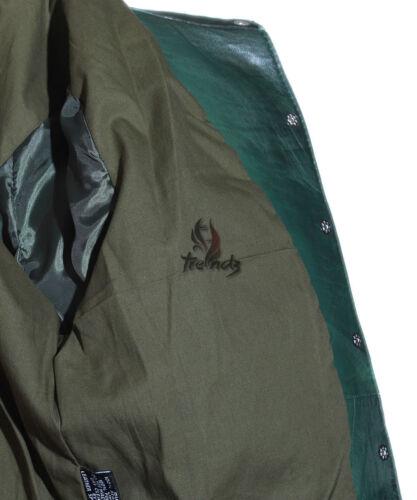 Signore Yvonne Verde Nuovo stile Western in Pelle Pelle di Agnello Reale Morbido Giacca a camicia