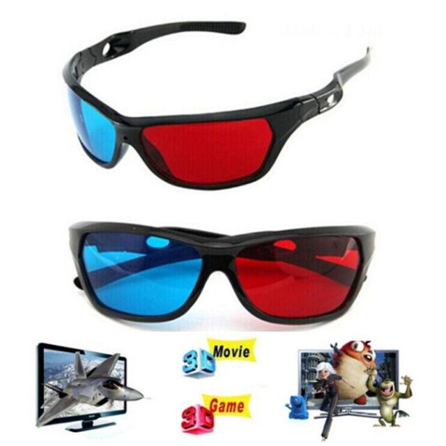 3D Glasses Red Blue Black Frame For Dimensional Anaglyph TV Movie DVD Game G$ ME