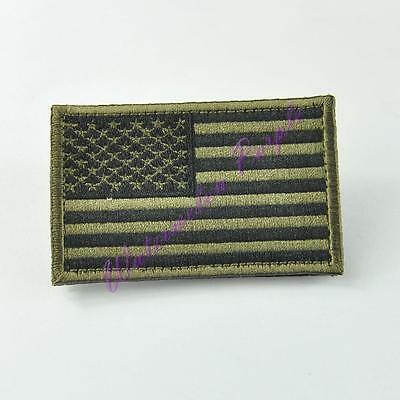 Army Green Tactical USA American Flag Morale Military Embroidered Patch