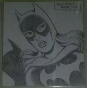 Original-Art-Sketch-Batgirl-by-Ramona-Fradon-CBCS-AUTHENTIC-DC-COMICS-CGC-WOW