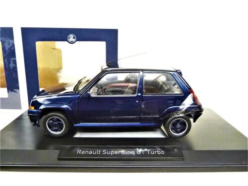 1:18 Norev RENAULT 5 GT Turbo Supercinq 1989 Alain Oreille blau bleu NEU NEW