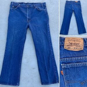 Vintage Levi's 517 Jeans Orange Tab Made In USA 44 X 32 Measures 42 1/2 X 32