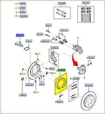 #8L2Z-2200-B EXPLORER BRAKE SHOES BRAND NEW OEM PARKING BRAKE KIT 2000-2010
