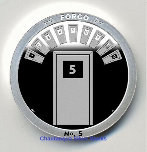 FORGO 1 OZ PROOF LIKE ROUND//CHAUTAUQUA SILVER WORKS//THROUGH THAT DOOR SERIES//#d