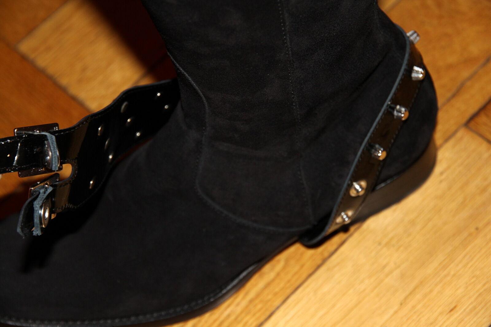 DsquaROT² Stiefel schwarz schwarz schwarz Gr. 38 Wildleder wie neu NP 6be9ed