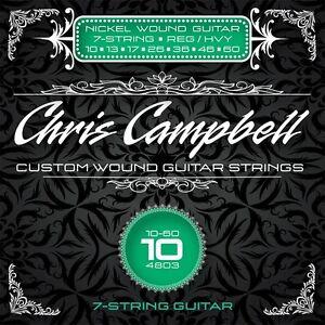 3 SETS CHRIS CAMPBELL CUSTOM ELECTRIC GUITAR STRINGS #4803 REG HVY 7-STRING SET
