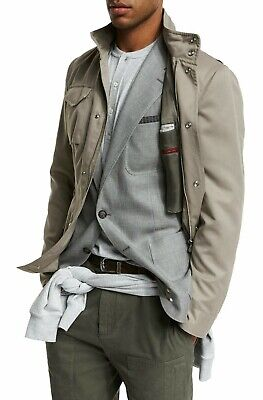 Dedito Brunello Cucinelli Field Brushed Jacket Giacca Nylon Silk Water-repellant Coat-mostra Il Titolo Originale Meno Caro