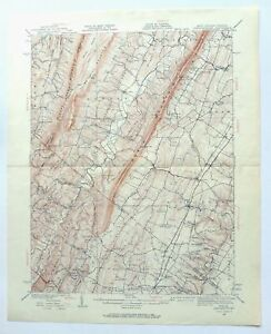 Details about Gerrardstown West Virginia Vintage USGS Topographic Map 1937  Inwood Topo