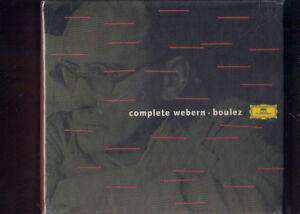 WEBERN-BOULEZ-COMPLETE-BOX-6-CD-NUOVO-SIGILLATO