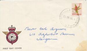 NEW-ZEALAND-1966-7d-Koromiko-plant-FDC-034-Gonville-Junction-034-CDS-addressed-D1974