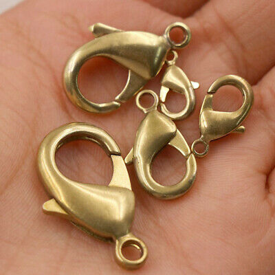 """Solid brass snap clasp hook clip 2/"""" long lot of 10"""