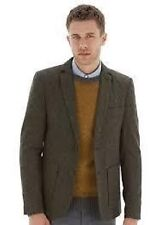 Burton Khaki Donegal Fleck Slim Fit Blazer Mens Size XXL Box4119 A