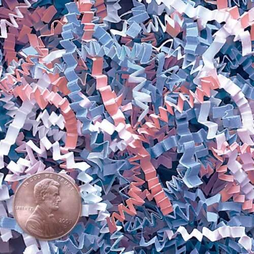 U Choose Size LT BLUE PINK WHITE Gift Basket Shred Crinkle Paper Filler Bedding