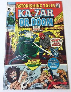 1971-Marvel-Comics-ASTONISHING-TALES-5-Ka-Zar-And-Dr-Doom-pretty-nice-shape