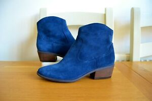 CLARKS-MOONLIGHT-COOL-NAVY-SUEDE-LEATHER-CUSHIONED-ANKLE-BOOTS-UK-6D-RRP-70-00