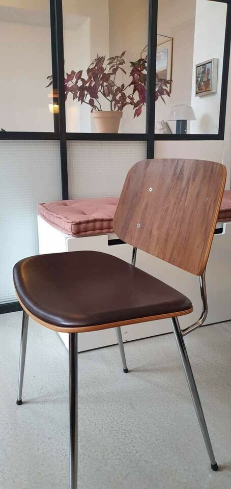 Spisebordsstol, Træ, læder – dba.dk – Køb og Salg af Nyt og
