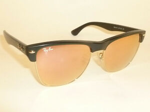 ray ban oversized clubmaster qp8t  Image is loading New-RAY-BAN-Sunglasses-Black-CLUBMASTER-OVERSIZED-RB