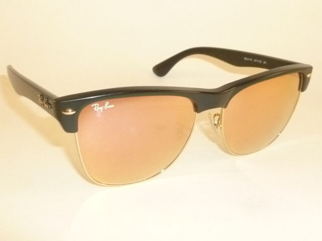 800a2c2d6dc New RAY BAN Sunglasses Black CLUBMASTER OVERSIZED RB 4175 877 Z2 Pink Mirror