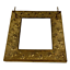 miniature 4 - Antique Embossed Brass Plate Vanity Dressing Wall Mirror Hanging Brushes Vintage