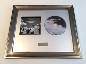 CONCRETE LOVE CD FRAMED PRESENTATION PERSONALLY SIGNED//AUTOGRAPHED COURTEENERS