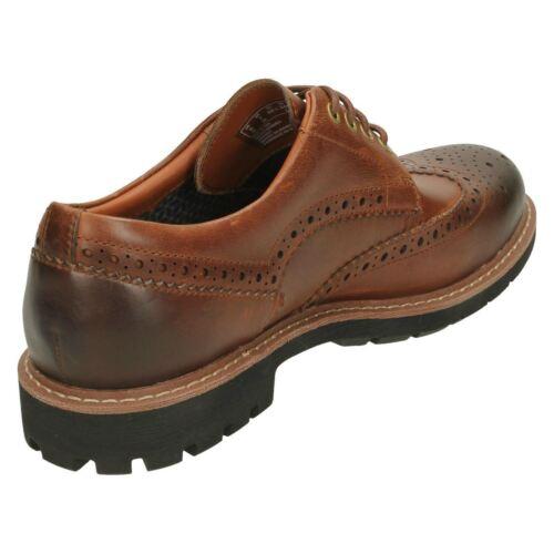 Hombre Piel Wing Calado Acordonar Clarks Zapato Batcombe SwPpg8xnqR