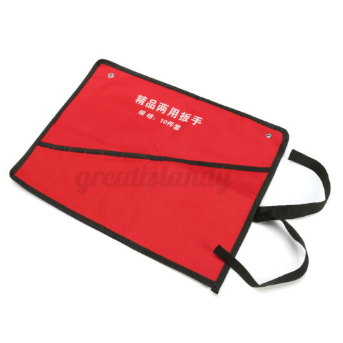 Canvas Roll Up Tools Storage Bag 8//10//14 Pockets Spanner Wrench Organizer Pouch