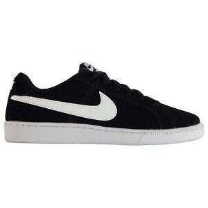 Nike-Hombre-Court-Royale-Gamuza-Entrenadores-Nike-Tribunal-Zapatos-De-Gamuza-Negro