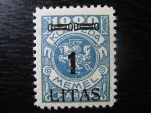MEMEL-KLAIPEDA-Mi-192-scarce-mint-stamp-CV-12-00
