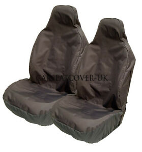 For Mini Cooper S Heavy Duty Black Pair Waterproof Car Front Seat Covers Protectors 2 x Fronts