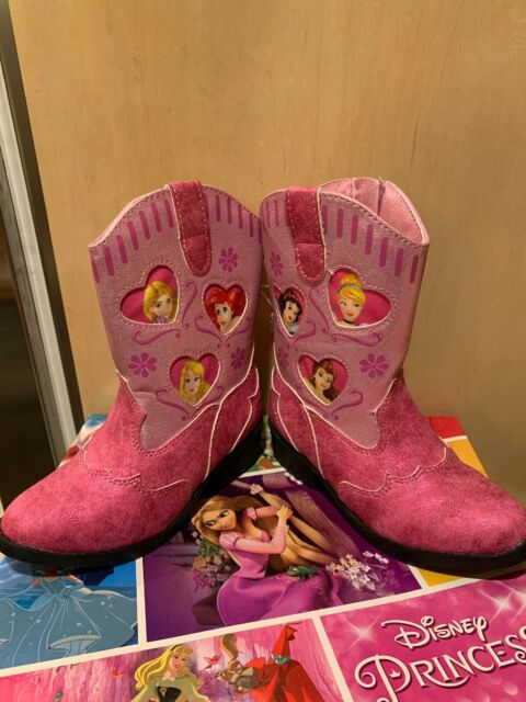 "New In Box Disney /""Princess/"" Six Princesses Toddler Girls Cowboy Boots Size 11"