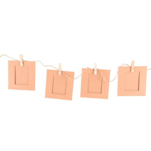 10 satz diy wandbild papier foto hängen rahmen album seil clip dekor HA P  bD