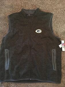 NFL-Green-Bay-Packers-Knit-Zippered-Sweater-Vest-3XL-men-039-s