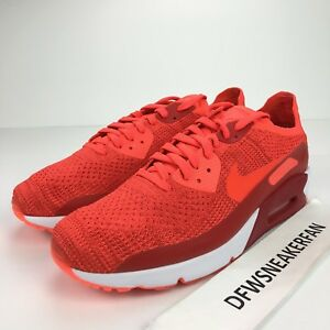 Details about Nike Air Max 90 Ultra 2.0 Flyknit Men's 11.5 Bright Crimson Shoes 875943 600 New