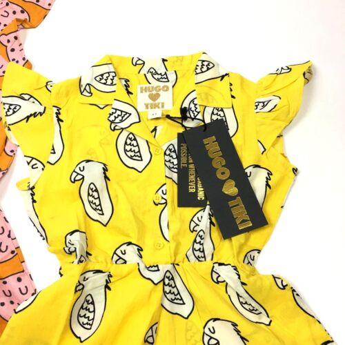 Hugo Loves Tiki Toddler Girls Womens Ruffled Play Suit Romper Organic Cotton NWT