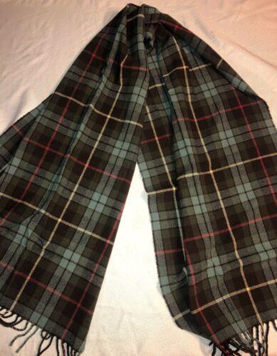 Pendleton Green Plaid 100% Virgin Wool Scarf