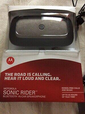 New in box Motorola Sonic Rider Bluetooth Car Kit Speakerphone   eBay