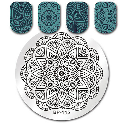 Nail Art Stamping Plate Image Stamp Template Stencil Manicure Tools BORN PRETTY