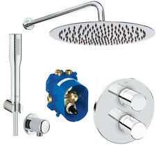 GROHE Set Unterputz 3000 C Thermostat Euphoria Handbrause,  Regendusche 300mm A5