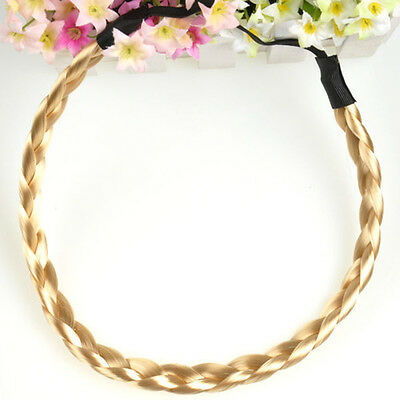 Korean Style Women  Braided Headband Elastic Plaited Boho Hair Hoop Hairband New