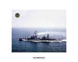Uss Corry Dd 817 Us Naval Destroyer Usn Navy Ship Print Ebay