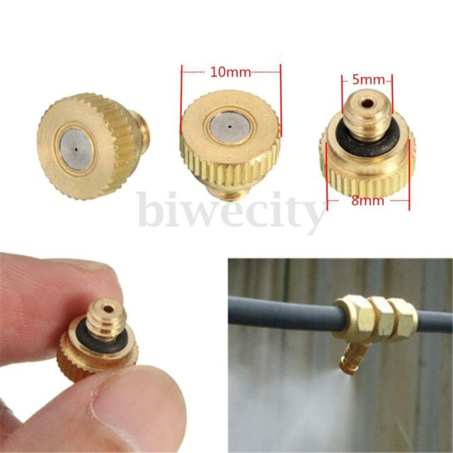 1/5/10/20Pcs Brass Misting Nozzles for Watering Cooling Irrigation System 0.3 mm