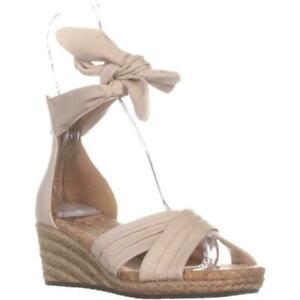 Details about UGG Australia Women's Sandals Traci Espadrille Wedge Cream Zip Sz 6.5 NIB