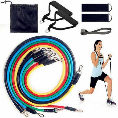 Widerstandsbänder Gymnastikband Fitnessbänder Expander Set Neu Yoga DHL 11tlg