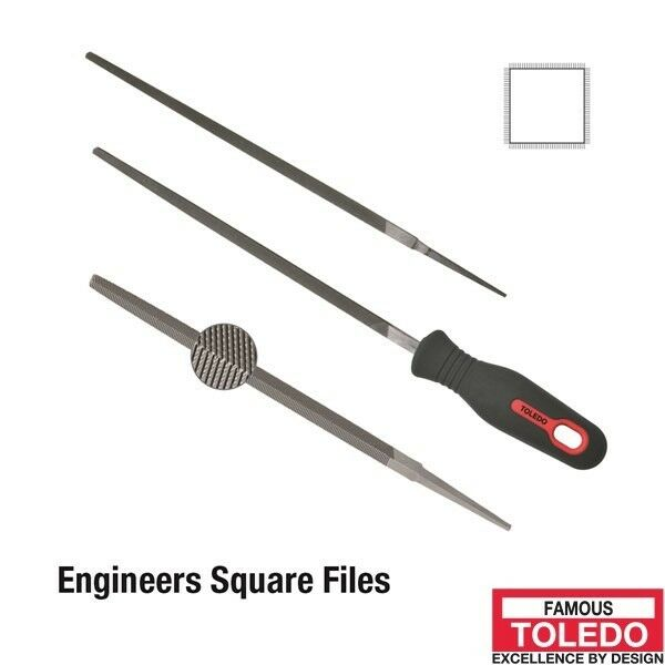 TOLEDO Square File Second Cut - 250mm 12 Pk 10SQ02BU x12