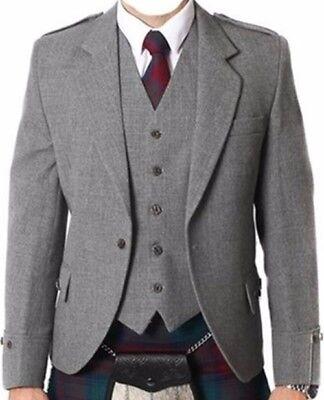 A Rombi Kilt Giacca E Gilet/gilet, Scozzese A Quadri Giacca Misto Lana Tropicale-, Scottish Argyle Jacket Mixed Tropical Wool It-it Mostra Il Titolo Originale