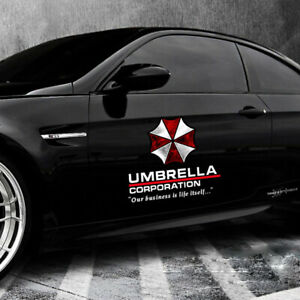 1Pair-Umbrella-Corporation-Decal-vinyl-Car-Sticker-Auto-Door-Panel-Waist-Line-De