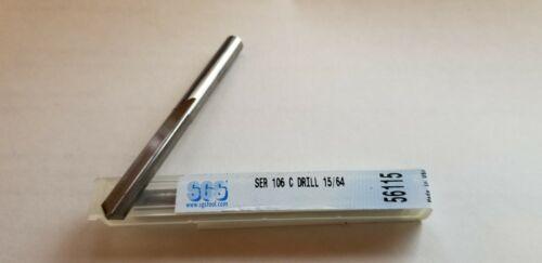 Solid Carbide straight flute drill. .2343 inch carbide drill 15//64 diameter