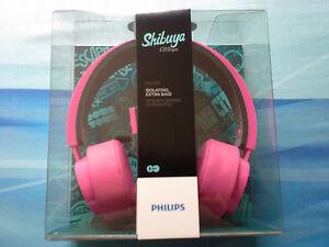 NEUF-Philips-Citiscape-Shibuya-Casque-arceau-avec-micro-Rose-No-Beats-Dr-Dre